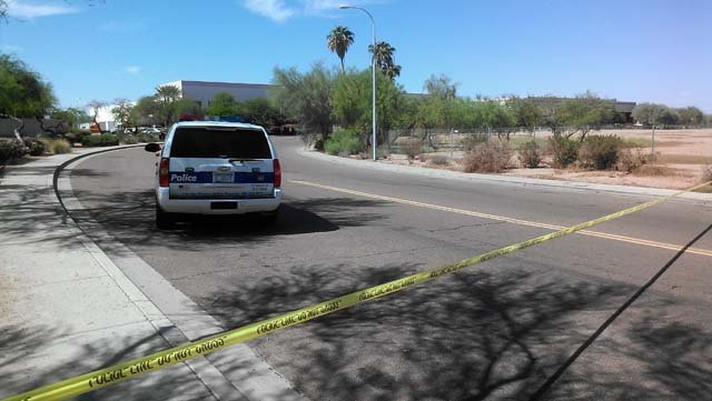 The scene of the carjacking, near 43rd Avenue and Roosevelt Street