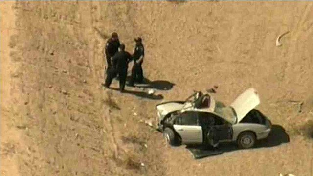 A car chase that began in Gilbert ended in Coolidge when the driver of a stolen car crashed.