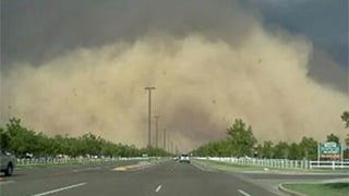 Dust storm on July 21. Viewer-submitted photo from TJ.