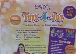 Emily's Toys 4 Joy runs through Oct. 31