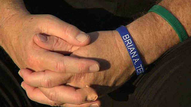 Colburn wears bracelets honoring slain border agents Jaime Zapata and Brian Terry.