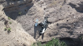 Plane crash at the Smelter Wash in Pinal County