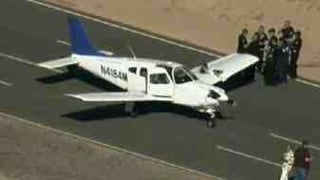 Both planes landed safely. This one landed at the Volkswagen proving grounds.