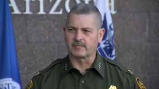 Border Patrol Commander Jeff Self at Friday's news briefing in Tucson.