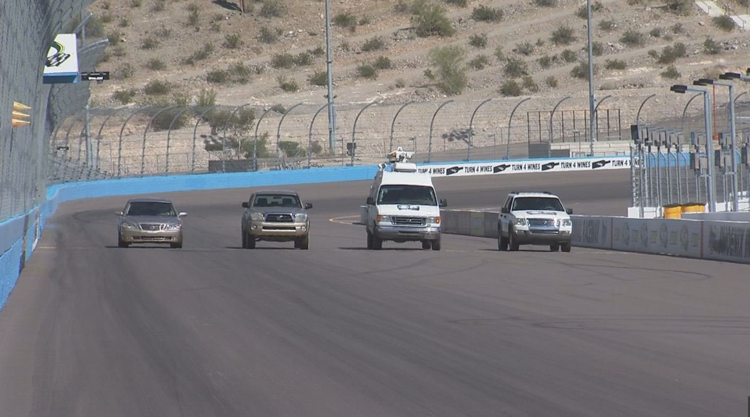 Four vehicles were tested.
