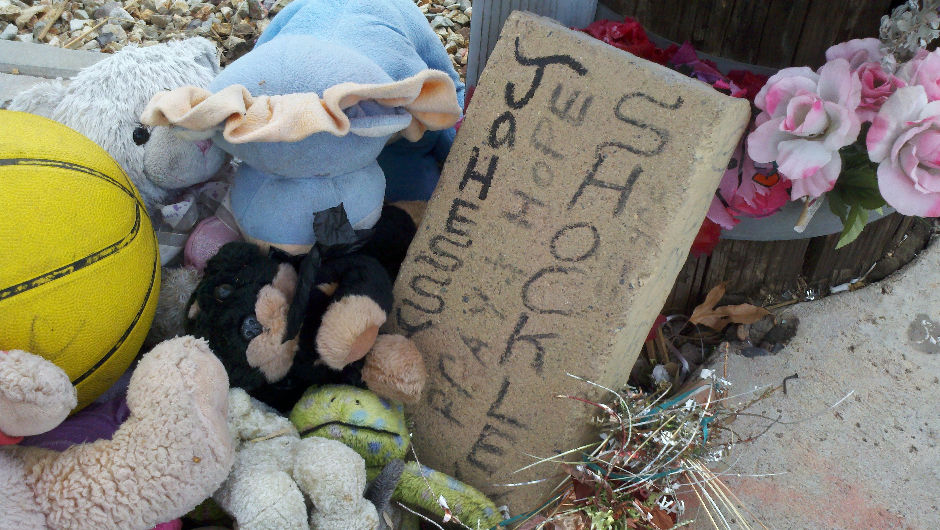 Memorial for 5-year-old Jhessye Shockley who was reported missing on Oct. 11, 2011.