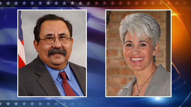 Democrat Raul Grijalva, Republican Gabriela Saucedo Mercer 
