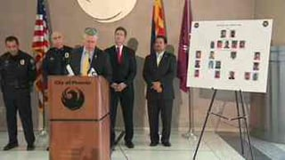 The Phoenix Police Department held the news conference Friday morning.