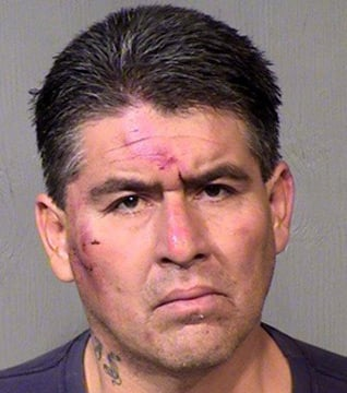 (Photo: Mesa County Sheriff's Office) Alberto Solis, 44, suspected in an earlier armed robbery, was apprehended after he assaulted an El Mirage police officer as he tried to flee police through the halls of a Valley hospital.