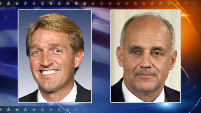 Republican Jeff Flake and Democrat Richard Carmona