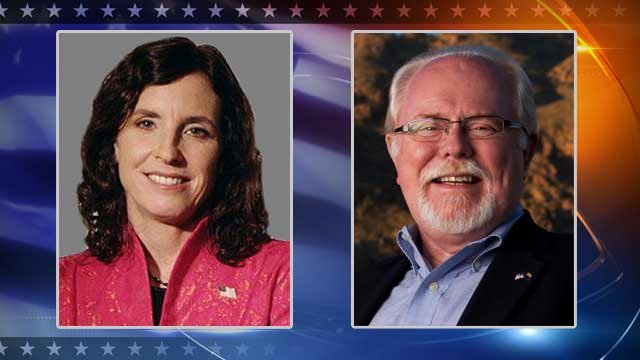 Republican Martha McSally and Democratic U.S. Rep. Ron Barber