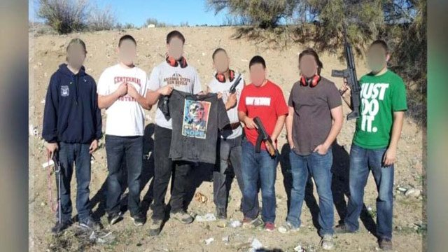 (Source: Facebook) The demotion of a Peoria police officer who posted on Facebook a photo of an apparent bullet-riddled T-shirt with a likeness of President Barack Obama was upheld by a city board Monday night.