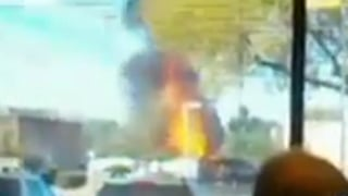 Image from viewer-submitted video of the moment the blast occurred.