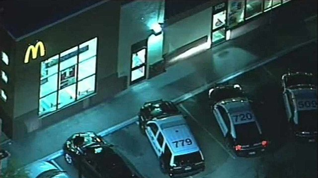(Source: CBS 5 News) Three men walked into a McDonald's restaurant at Priest Drive and Baseline Road around 5 a.m. and demanded the manager open the safe.