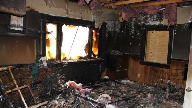 (Source: Yavapai County Sheriff's Office) Investigators say this home in Walker was intentionally set on fire on Oct. 15 and then burglarized Oct. 18 or Oct. 19.