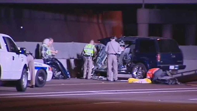 (Source: CBS 5 News) A man was killed after crashing into an abandoned truck on I-10 he could not avoid.
