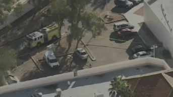 Hazmat scene in Scottsdale neighborhood.