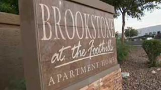 A thief targeted the Brookstone at the Foothills apartment complex drop box outside the leasing office and stole checks and money orders for residents' rent. (Source: CBS 5 News)