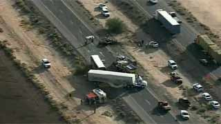 A Casa Grande man was killed in a two-vehicle crash on I-10 Tuesday afternoon.