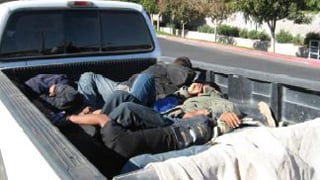 Detectives said they learned that the occupants in the vehicle were involved in human smuggling. (Source: MCSO)