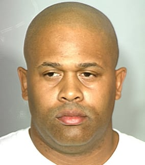 (Source: Las Vegas Police) Booking photo of Michael Hall, 41, taken into custody on Nov. 20.