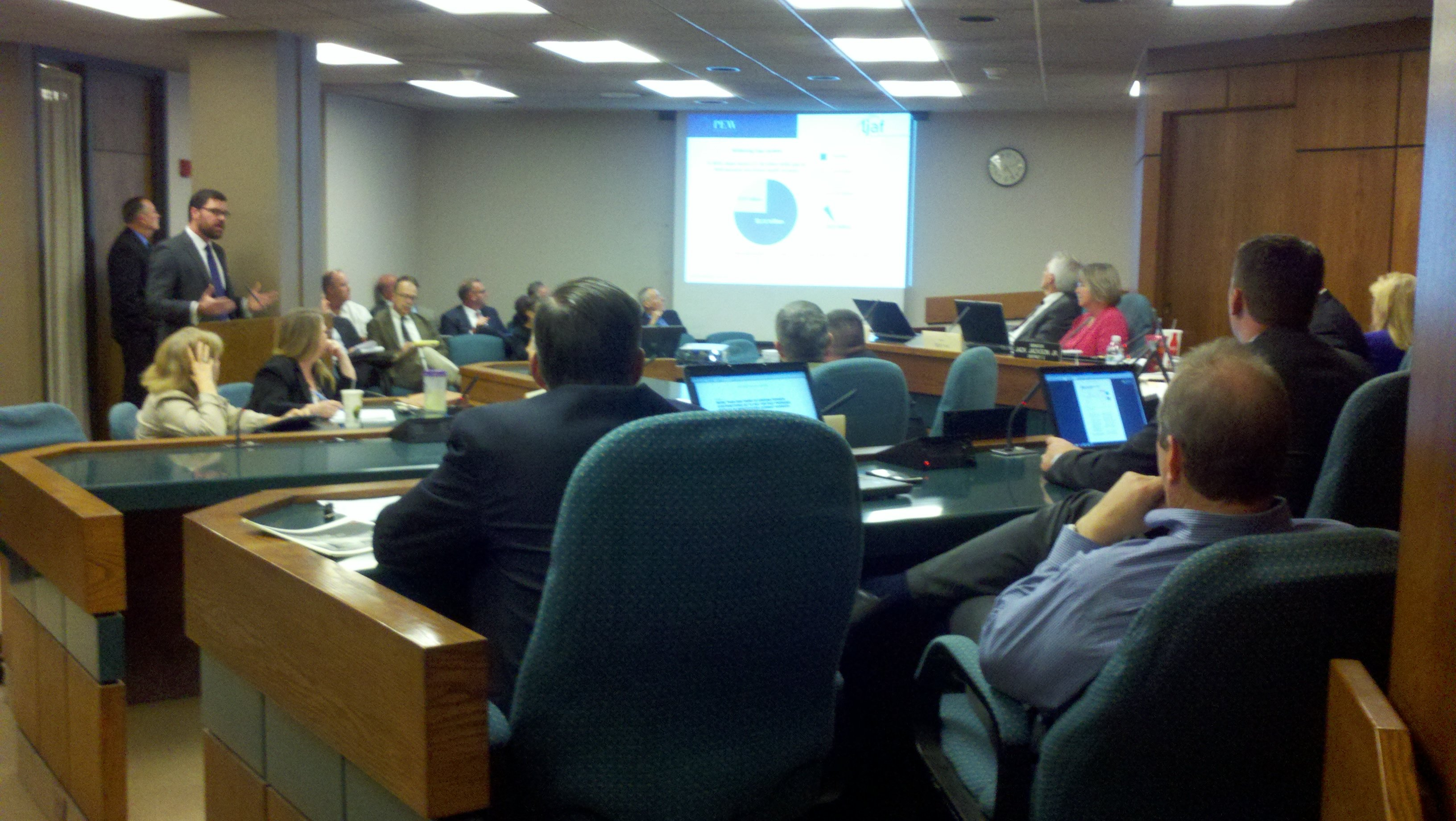 Defined Contribution and Retirement Study Committee at their meeting Tuesday.