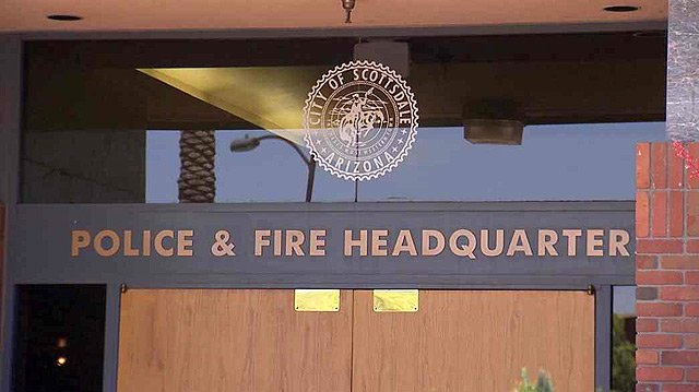 (Source: CBS 5 News) A Scottsdale police officer resigned after he was accused of having sex with a woman more than 50 times and lying about it.