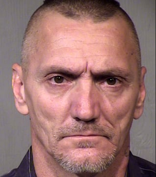 (Source: Mesa Police Department) Robert Lheureux, a 48-year-old convicted felon, was in jail after Mesa police said they found more than $10,000 worth of merchandise taken from a Fry's store that was closed for Thanksgiving.