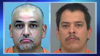 (Source: Pinal County Sheriff's Office) Victor Gutierrez, left, and Mark Jimenez were arrested by Pinal County Sheriff's deputies after they were caught in a hand-dug tunnel that led to the BHP mine in San Manuel