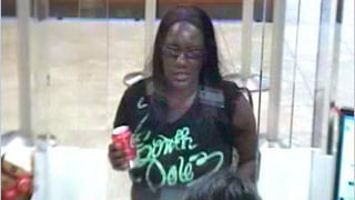 Suspect sought in connection with Peoria bank robbery.