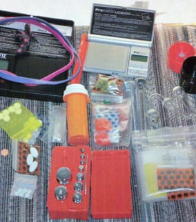 (Source: MCSO) Items seized by sheriff's deputies.