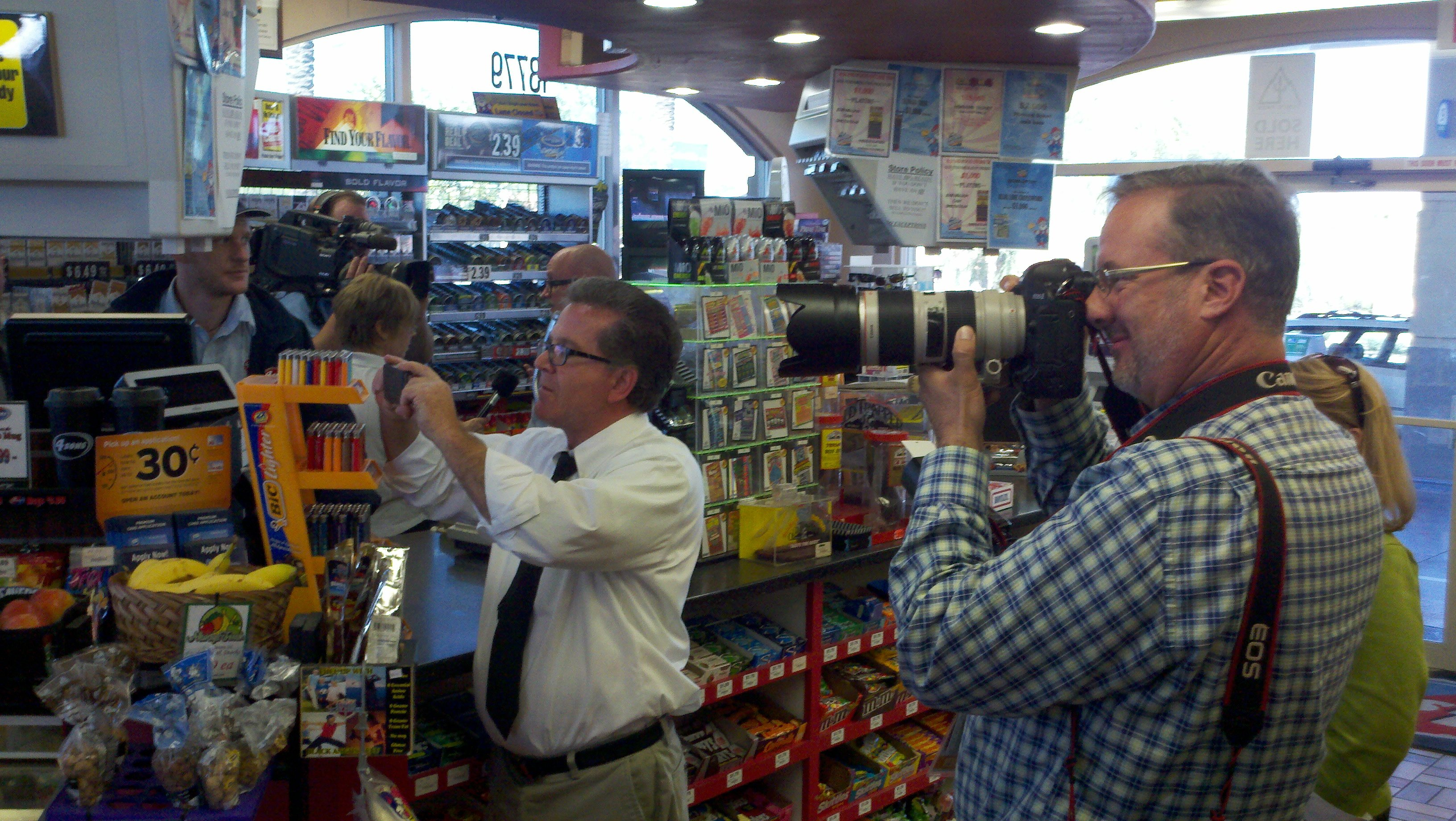 At 4 Sons Food Store at 13779 N. Fountain Hills Blvd. in Fountain Hills where the winning ticket was sold.