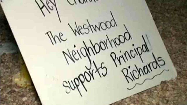(Source: CBS 5 News) Some people support the hand-holding punishment dished out by the Westwood High School principal, even if the school district does not.