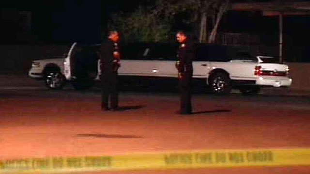 (Source: CBS 5 News) Phoenix police were still trying to determine what sparked a shooting that left at least one person hospitalized and several others trying to escape in a limousine late Sunday night.