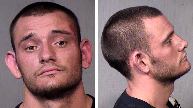(Source: Maricopa County Sheriff's Office) Andrew James Mathieson was booked into the Maricopa County Jail after he was arrested about 10 p.m. Sunday night in connection with the beating and robbery of a 76-year-old woman.