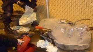 (Source: U.S. Customs and Border Protection) Gas tank that allegedly contained 8 1/2 gallons of liquid meth.