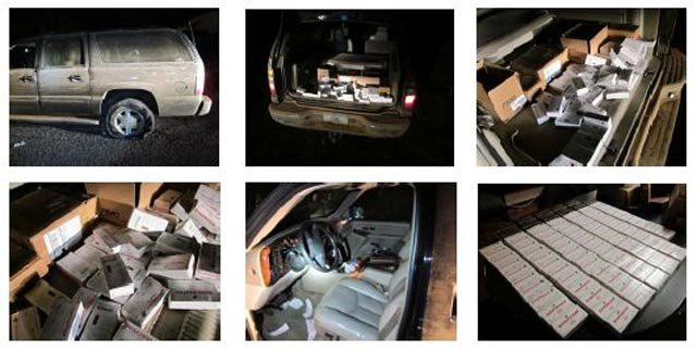 (Source: Pinal County Sheriff's Office) Pinal County deputies seized more than 4,500 rounds of handgun ammunition after a large SUV reported stolen in Phoenix was found abandoned after a chase through the southern Arizona desert