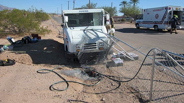 (Source: Pinal County Sheriff's Office) Investigators said they didn't know why the driver drifted off the road.