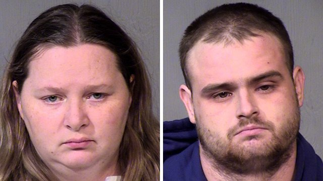 (Source: Maricopa County Sheriff's Office) Allison Ann Clement and Ryan Alan Reed were booked on charges of felony child abuse early Wednesday morning.