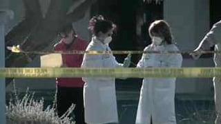 Technicians at the crime scene