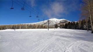 (Source: Arizona Snowbowl) Humphreys Peak taken from Hart Prairie at 3 p.m.Monday.