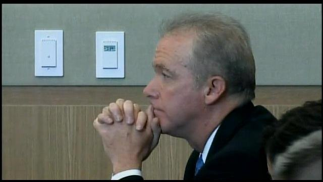 (Source: CBS 5 News) Michael Marin right after he swallowed a cyanide capsule at his sentencing in June.