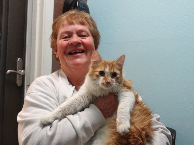 Prickly Pete with his adopted owner, Jean Mann (Source: Arizona Humane Society)
