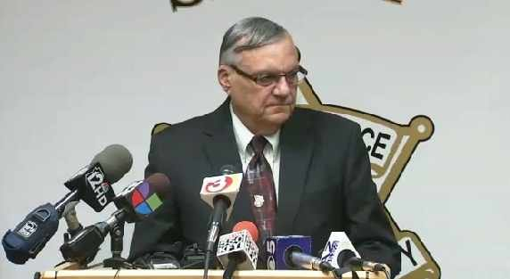 Maricopa County Sheriff Joe Arpaio holds a news conference on the 16-year-old's arrest.