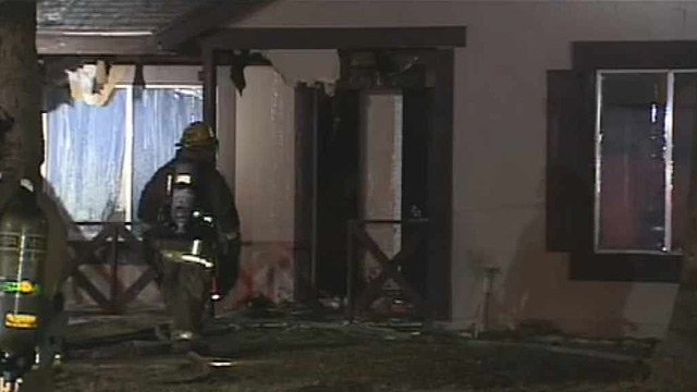 (Source: CBS 5 News) Seven people were displaced by the fire near 75th Avenue and Indian School Road early Friday morning.