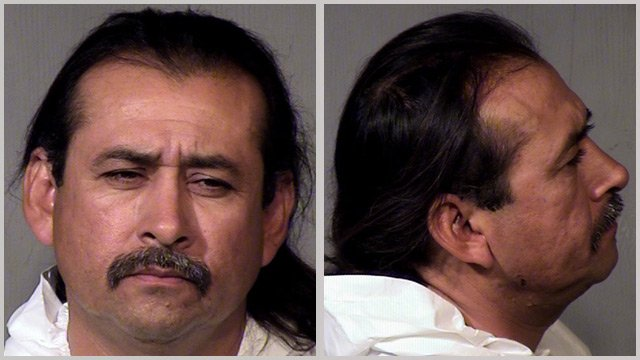 (Source: Gilbert Police Department) Ysidro Steven Cota, 46, was booked into jail on charges of second-degree homicide, aggravated assault and prohibited possessor of a firearm ain connection with the shooting death of Michael Kafta.