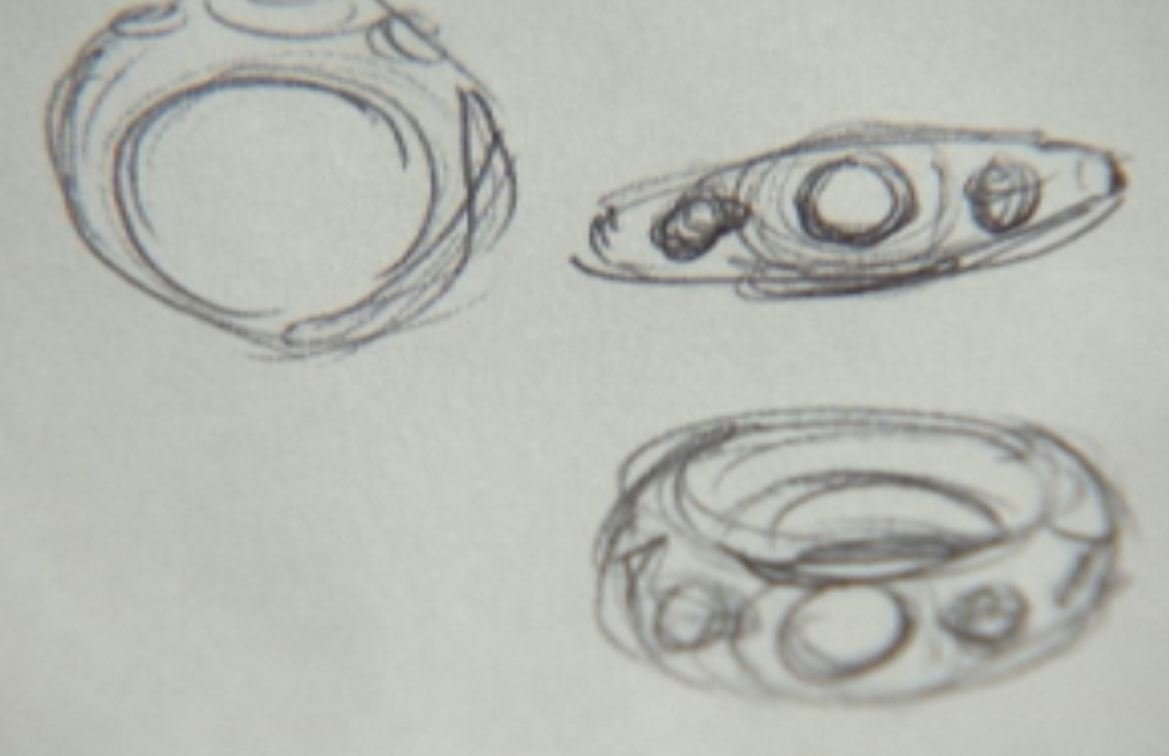 Sketch of the missing ring.