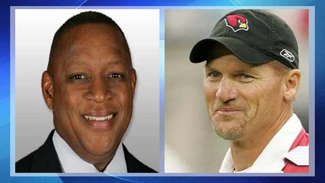 Rod Graves and Ken Whisenhunt (Source: azcardinals.com)