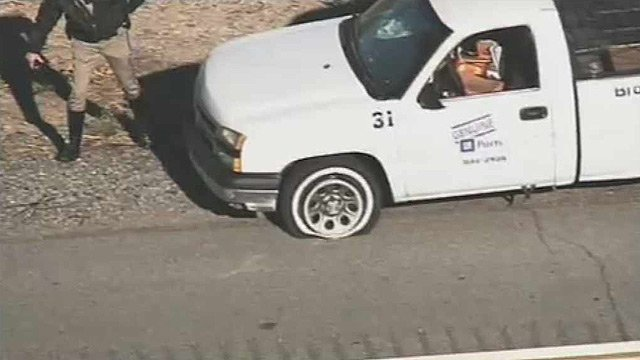 (Source: CBS 5 News) DPS officers used spiked strips to stop a speeding vehicle driven by a man believed to have suffered from a medical condition.