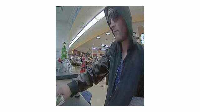 Unknown man who allegedly robbed a U.S. Bank.